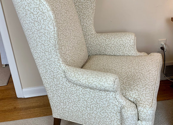 PAIR OF CREAM WING CHAIRS