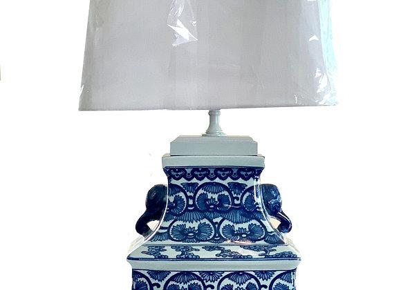 BLUE & WHITE ELEPHANT LAMP