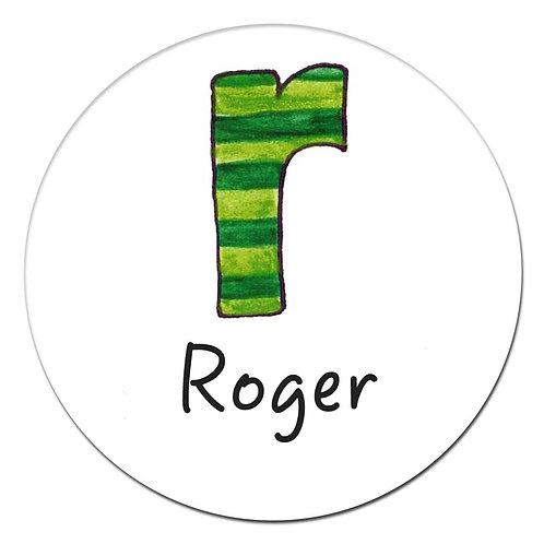 R Green Stripe