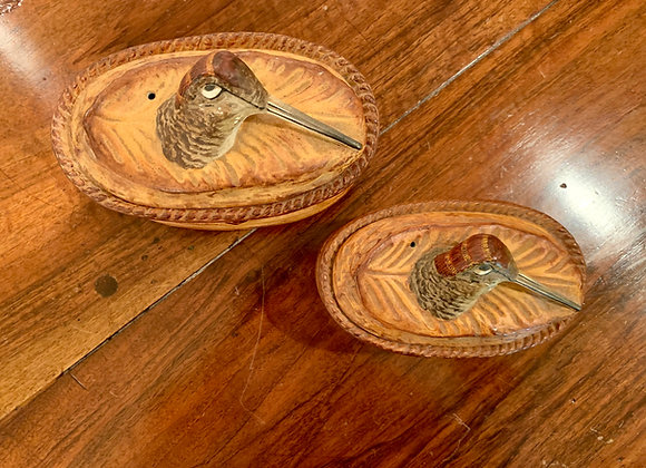 PAIR OF VINTAGE FRENCH PILLIVUYT WOODCOCK TUREENS
