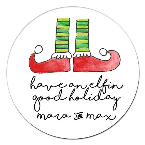 Elf Shoes Sticker