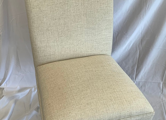 PAIR OF UPHOLSTERED PARSONS CHAIRS