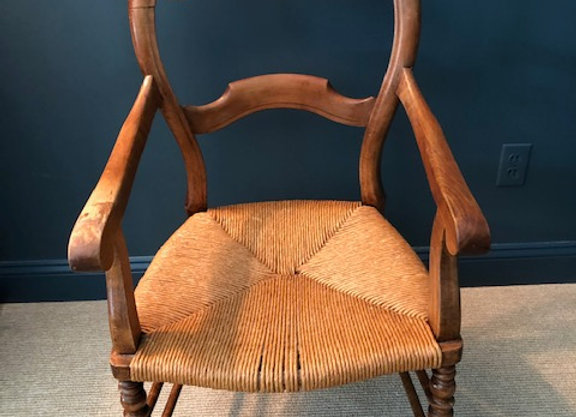 PINE CHAIR WITH RUSH SEAT