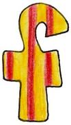 F L Yellow Red Stripe