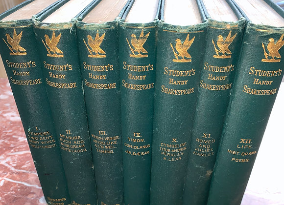 Set of antique Shakespeare books