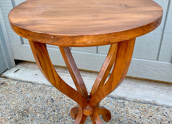WOODEN DRUM SIDE TABLE