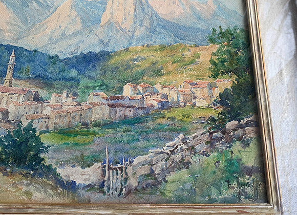 ANTIQUE FRENCH WATERCOLOR