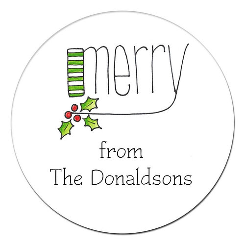 Merry Sticker