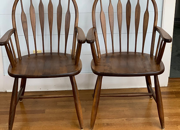 PAIR OF BOW BACK TUDOR CHAIRS