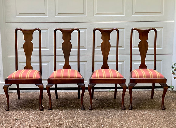 4 FIGURE BACK DINING CHAIRS