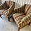Thumbnail: PAIR OF VINTAGE UPHOLSTERED ARM CHAIRS