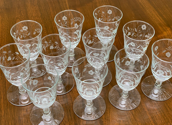 2 SETS OF CRYSTAL GLASSES