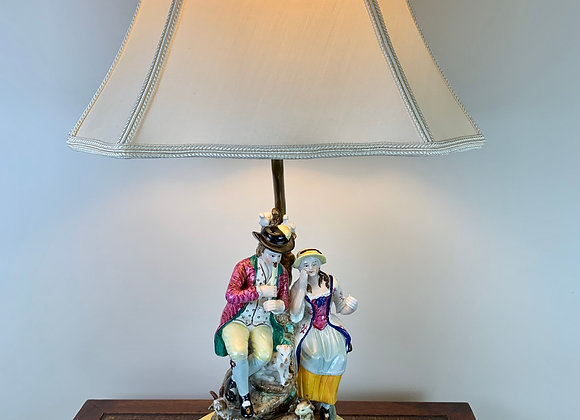 ENGLISH STAFFORDSHIRE LAMP