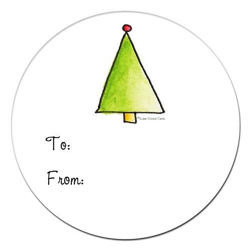 Holiday Tree Sticker