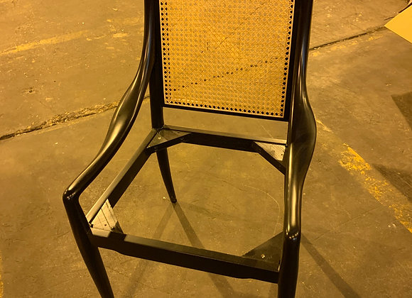 4 BUNGALOW FIVE CANE BACK CHAIRS W/O SEATS