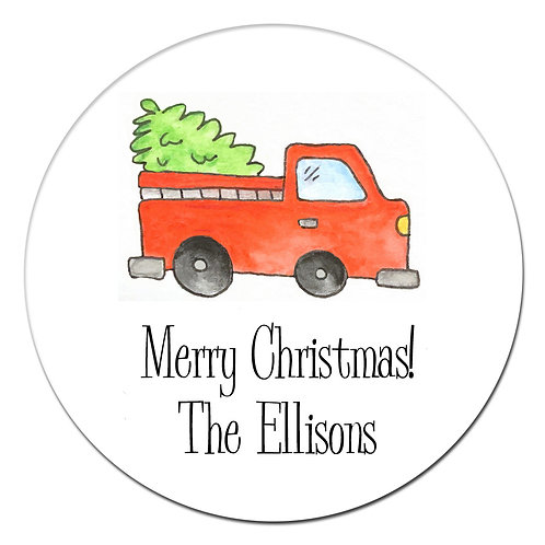 Holiday Truck Sticker