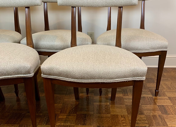 8 UPHOLSTERED DINING CHAIRS