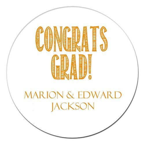 Congrats Grad Orange