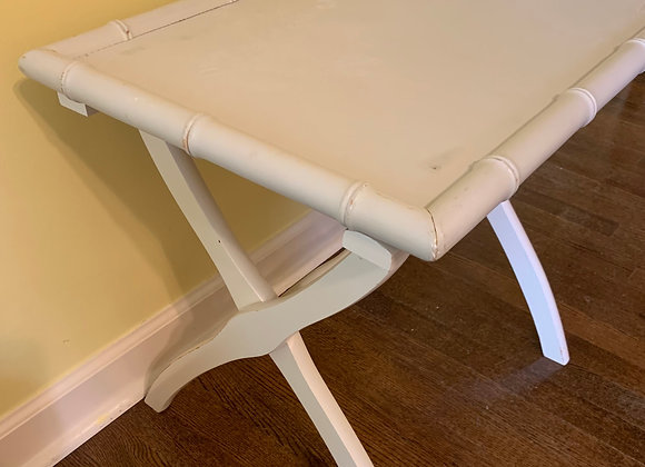FAUX BAMBOO TRAY TABLE