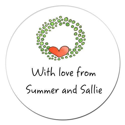 Wreath Love Sticker