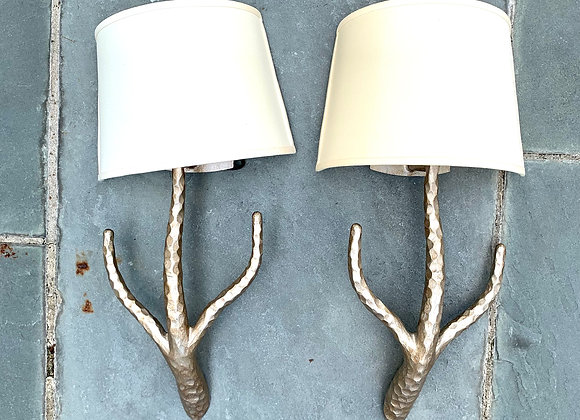 PAIR OF IRONWARE INT'L CYBIL SCONCES