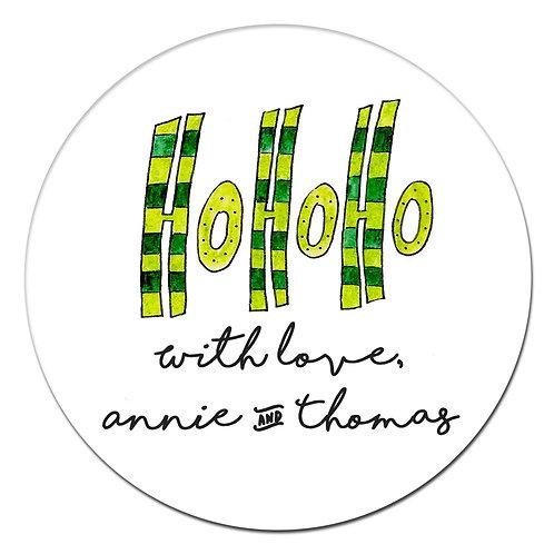 Striped Ho Sticker