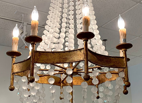 FROSTED CRYSTAL BEADED CHANDELIER
