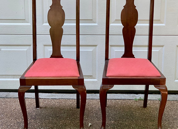 2 QUEEN ANNE DINING CHAIRS