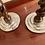 Thumbnail: SET OF BARLEY TWIST & SILVER CANDLESTICKS