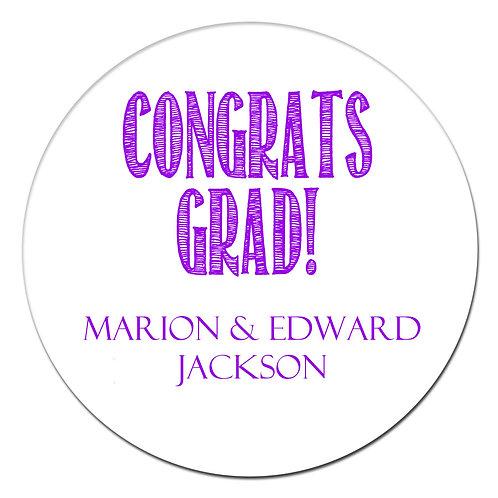 Congrats Grad Purple