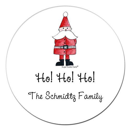 Santa Too Stickers