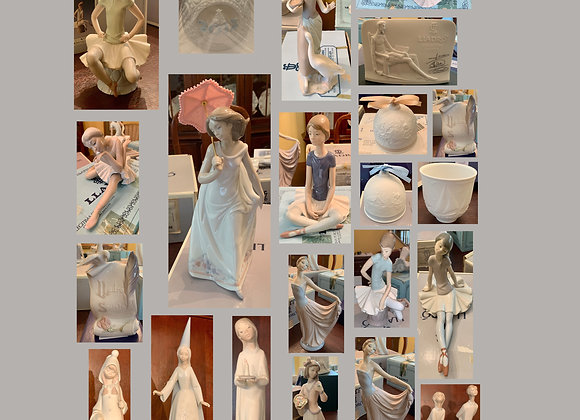 SET OF 23 LLADRO PIECES IN BOXES