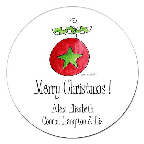 Ornament Star Stickers