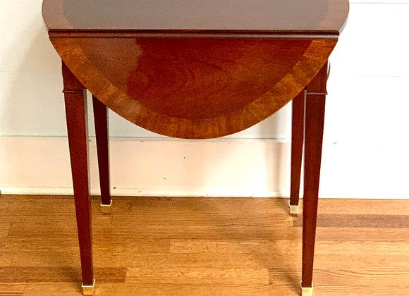 MAHOGANY BAKER SIDE TABLE