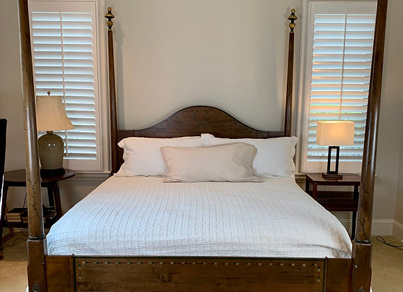 KING SIZE HAND PAINTED ACANTHUS BED