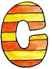 C L Orange Yellow Stripe