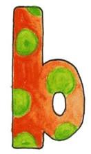B L Orange Green Dot