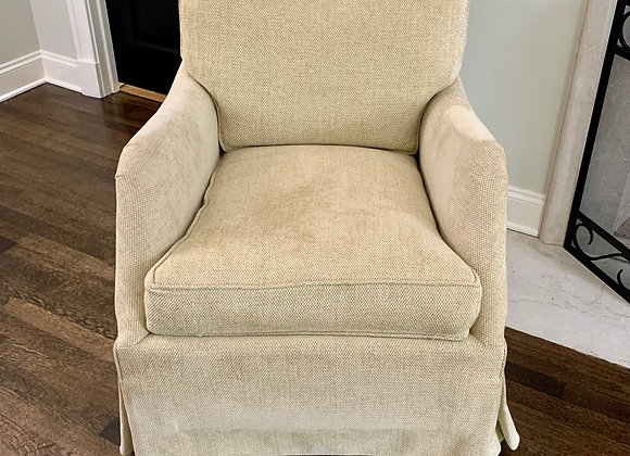 CHENILLE UPHOLSTERED CLUB CHAIR