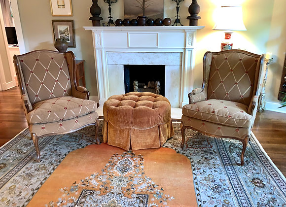 PAIR OF ANTIQUE WING CHAIRS