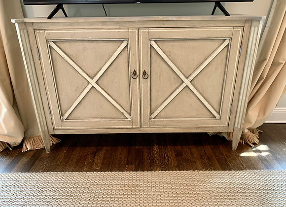 CONSOLE CABINET WITH DECORATIVE FINISH