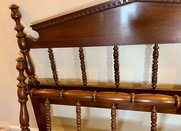 ANTIQUE DOUBLE BED FRAME WITH RAILS