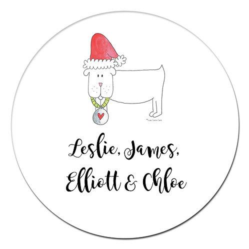 Holiday Dog Sticker