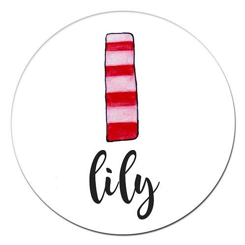 l Pink Red Stripes
