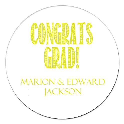 Congrats Grad Yellow