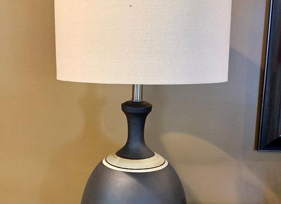 CERAMIC LAMP & LINEN SHADE