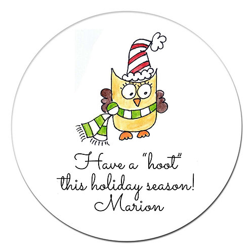 Holiday Owl Sticker