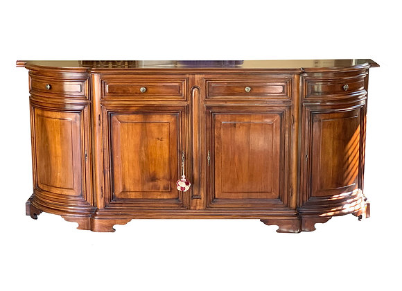 CURVED FRONT FRUITWOOD SIDEBOARD