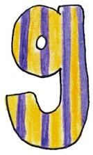 G L Yellow Purple Stripe