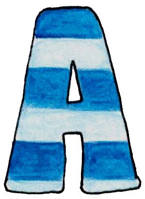 A U Blue Stripes