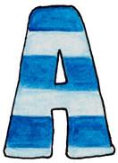 A U Blue Stripes